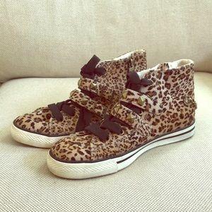 FUN Cheetah Print Sneakers!